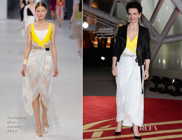 Juliette Binoche In Christian Dior - 'Like Father, Like Son' Marrakech Film Festival  Photocall