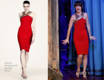 Juliette Lewis In Julien Macdonald - Late Night with Jimmy Fallon