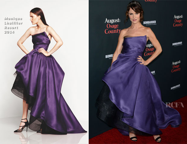 Juliette Lewis In Monique Lhuillier - 'August Osage County' LA Premiere