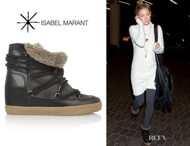 kate hudson 39 s isabel marant 39 nowles 39 shearling lined boots. Black Bedroom Furniture Sets. Home Design Ideas