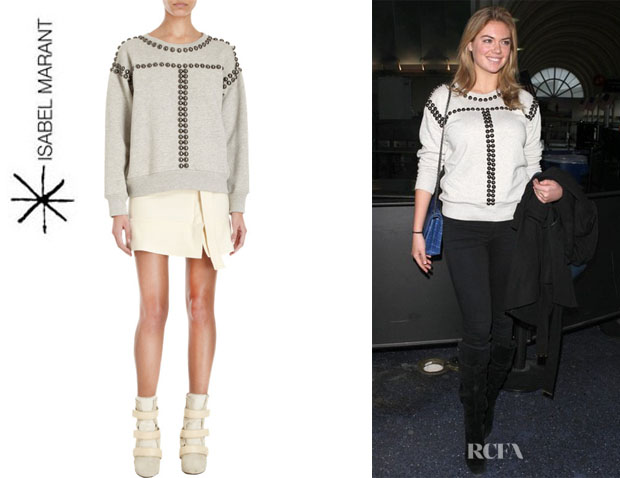 Kate Upton's Isabel Marant 'Scotty' Studded Sweatshirt