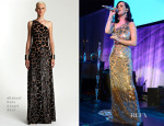 Katy Perry In Michael Kors - 9th Annual UNICEF Snowflake Ball Performance