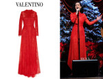 Katy Perry's Valentino Embroidered Lace Gown