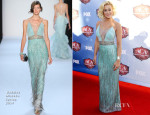 Kellie Pickler In Badgley Mischka & Georges Chakra Couture - American Country Awards 2013