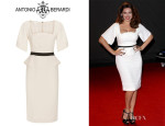 Kelly Brook's Antonio Berardi Flutter Sleeve Cady Dress