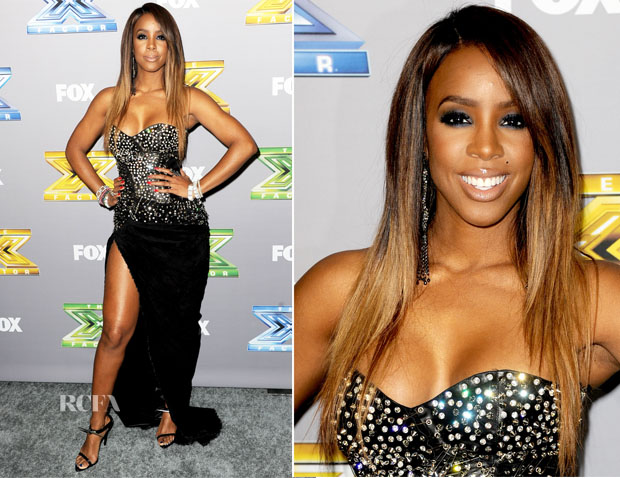 Kelly Rowland In Balmain - X Factor Finale