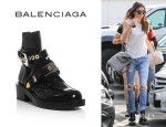 Kendall Jenner's Balenciaga 'The Ceinture' Cut-Out Ankle Boots