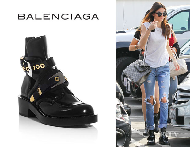 Kendall Jenner'sBalenciaga The Ceinture Cut-Out Ankle Boots