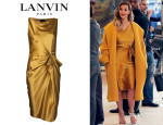 Kim Kardashian's Lanvin Boat Neck Fitted Dress