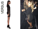Kim Kardashian's Versus Knit Cut Out Dress