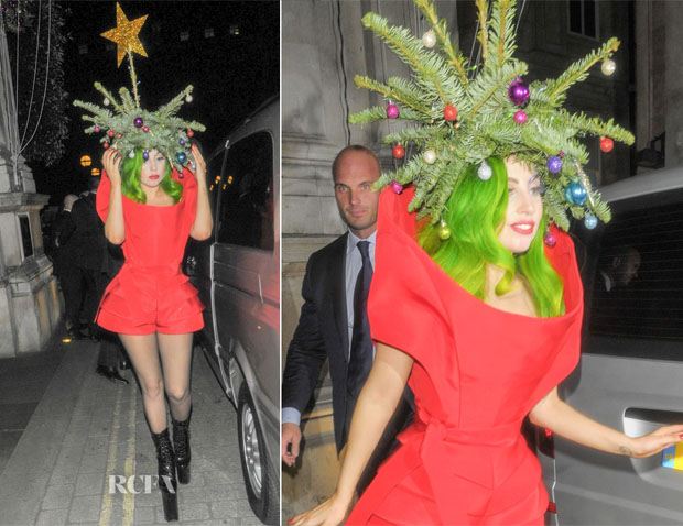 Lady Gaga In Vera Wang - Out In London
