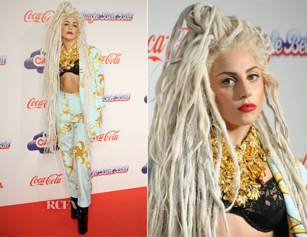Lady Gaga In Versace - Capital FM Jingle Bell Ball