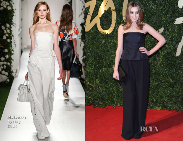 Laura Carmichael In Mulberry - British Fashion Awards 2013
