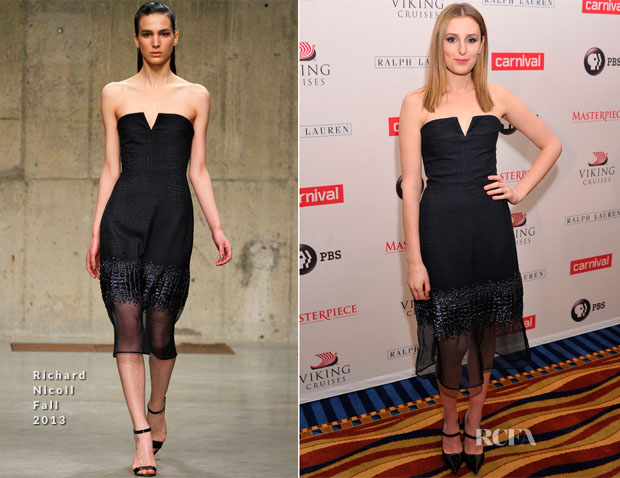 Laura Carmichael In Richard Nicoll - 'Downton Abbey' Season Four Cast Photocall