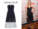 Laura Carmichael's Richard Nicoll Embroidered Strapless Dress