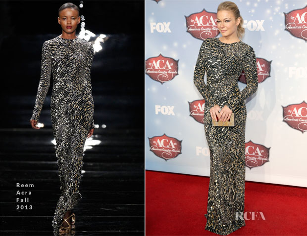 LeAnn Rimes In Reem Acra - American Country Awards 2013