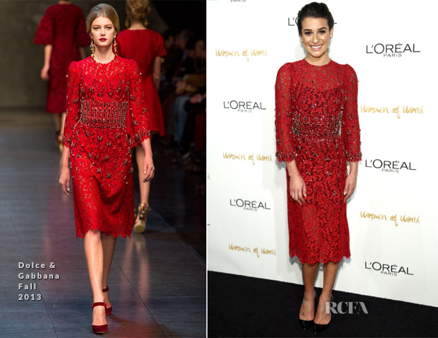 Lea Michele In Dolce & Gabbana - L'Oreal Paris Women of Worth 2013
