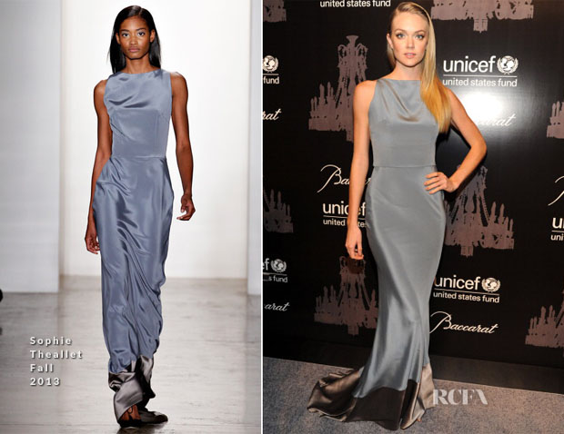 Lindsay Ellingson In Sophie Theallet - 9th Annual UNICEF Snowflake Ball
