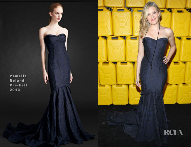 Maggie Grace In Pamella Roland - 8th Annual Charity Ball Gala