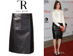 Mandy Moore's The Row Lambskin Skirt