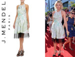 Maria Sharapova's J. Mendel Sheer-Hem Halter Dress
