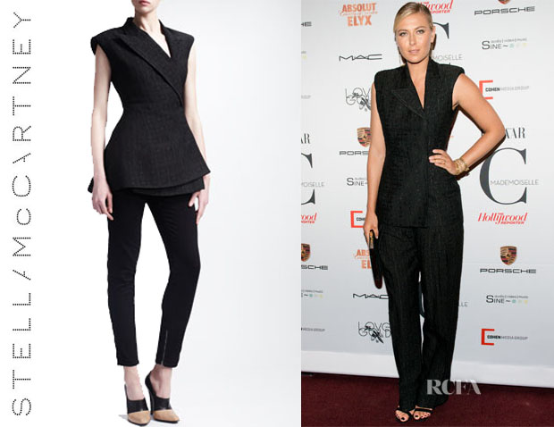 Maria Sharapova's Stella McCartney Asymmetric Wrap Gilet