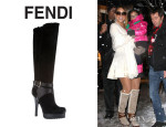 Mariah Carey's Fendi Knee High Platform Boots