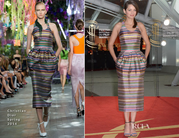 Marion Cotillard In Christian Dior - 'A Thousand Times Good Night' Marrakech International Film Festival Premiere