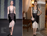 Marion Cotillard In Christian Dior Couture - Dior Hosts Dinner At Marrakech International Film Festival