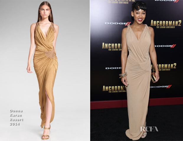 Meagan Good In Donna Karan - 'Anchorman 2 The Legend Continues' New York Premiere