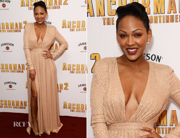 Meagan Good In Ralph & Russo - 'Anchorman 2 The Legend Continues' London Premiere
