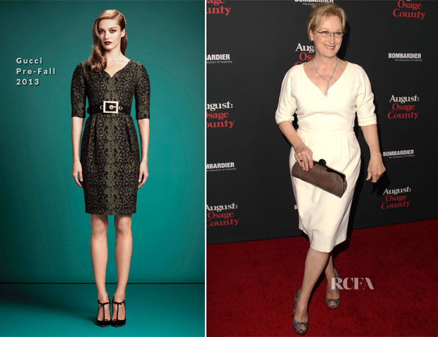 Meryl Streep In Gucci - 'August Osage County' LA Premiere