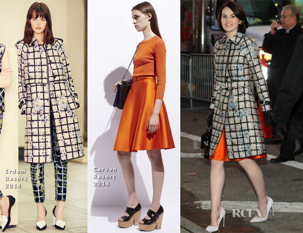 Michelle Dockery In Erdem & Carven - Good Morning America
