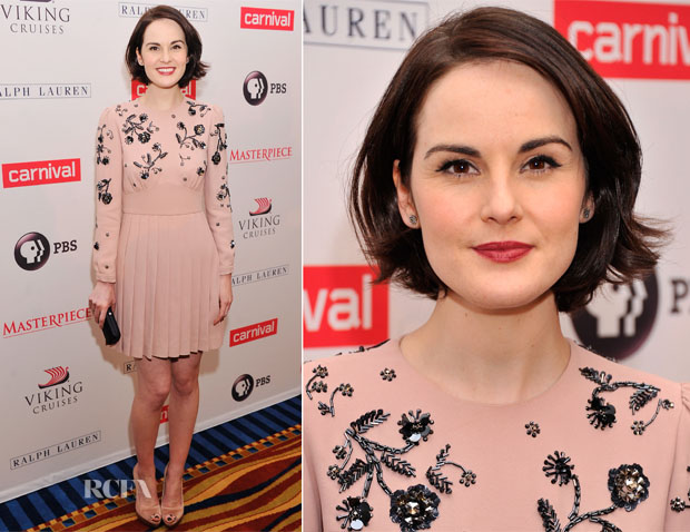Michelle Dockery In Miu Miu - 'Downton Abbey' Season 4 Cast Photocall