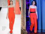 Michelle Dockery In Monique Lhuillier - Late Night with Jimmy Fallon