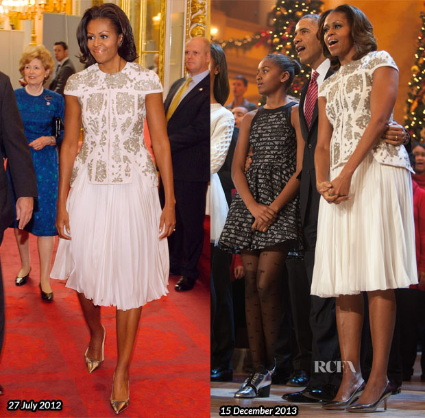 Michelle Obama In J Mendel - TNT's Christmas in Washington 2013