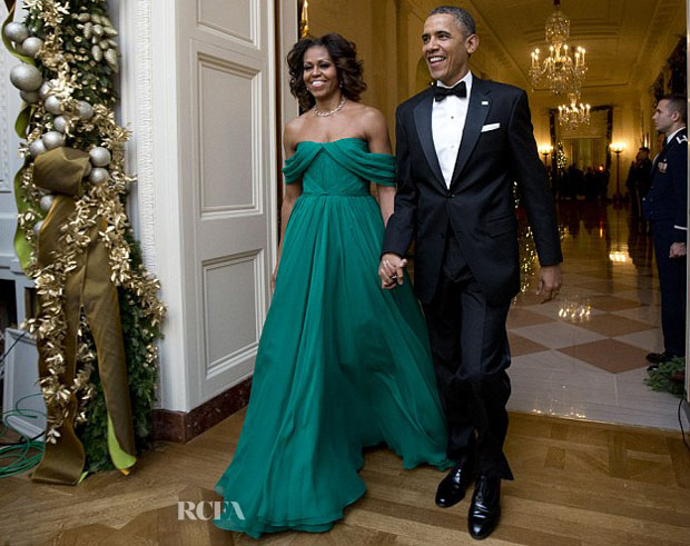 Michelle Obama In Marchesa - The 36th Kennedy Center Honors Gala