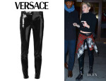 Miley Cyrus' Versace Shiny Vinyl Trousers