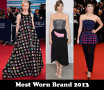 Most Worn Brand 2013 – Dior