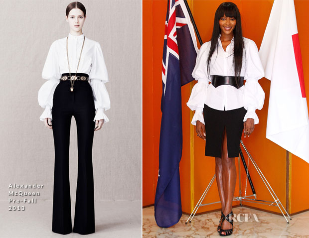 Naomi Campbell In Alexander McQueen - Japanese Tea Ceremony