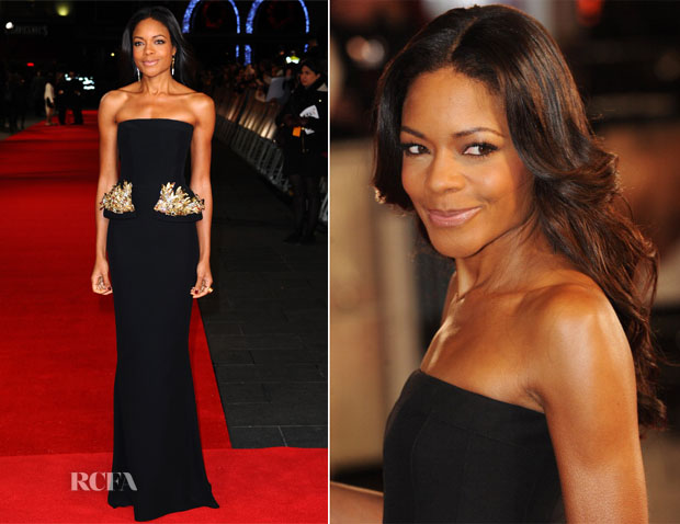 Naomie Harris In Alexander McQueen - 'Mandela Long Walk To Freedom' Royal Premiere