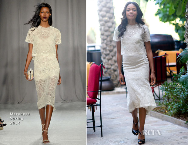 Naomie Harris In Marchesa - Dubai Film Festival Portrait Session
