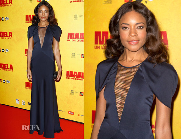 Naomie Harris In Vionnet - 'Mandela Long Walk to Freedom' Paris Premiere