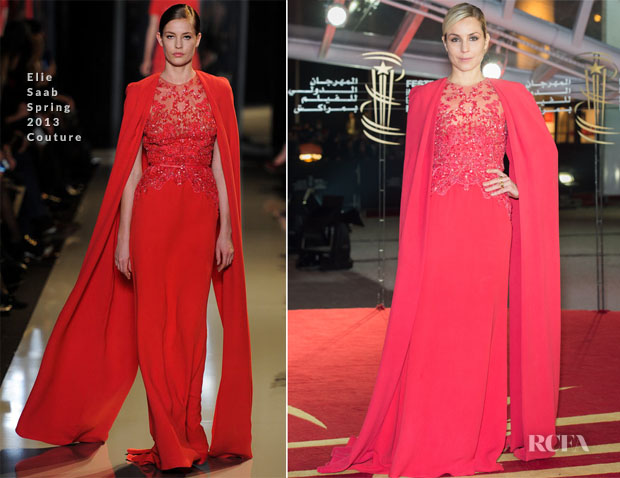 Noomi Rapace In Elie Saab Couture - 'Fernando Solanas' Marrakech Film Festival Tribute