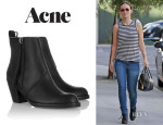 Olivia Wilde's Acne 'Pistol' Leather Ankle Boots