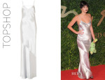 Pixie Geldof's Topshop Strappy Satin Maxi Dress