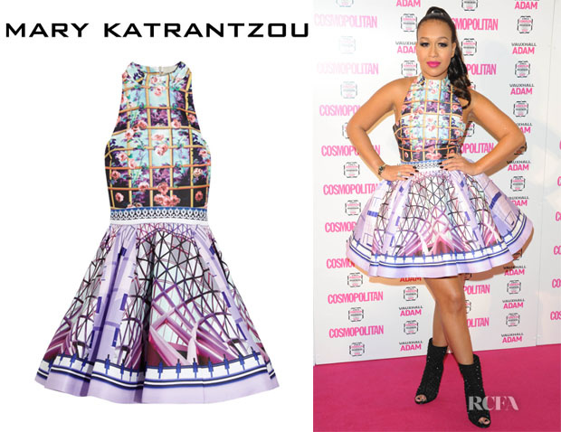 Rebecca Ferguson's Mary Katrantzou 'Trinkolo' Printed Satin-Twill Dress