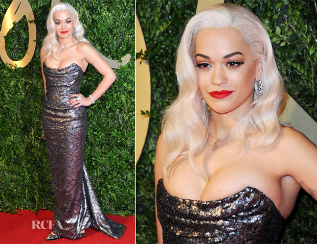 Rita Ora In Vivienne Westwood - British Fashion Awards 2013