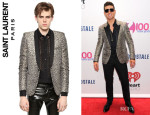 Robin Thicke's Saint Laurent Leopard Print Jacket
