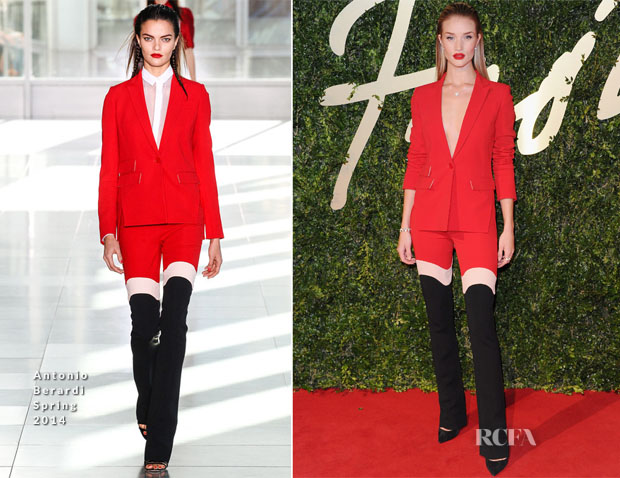 Rosie Huntington-Whiteley In Antonio Berardi - British Fashion Awards 2013